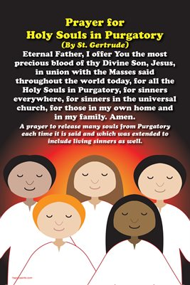 Happy Saints Prayer for Holy Souls in Purgatory