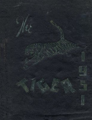 "1951 ""The Tiger"" Murray High School Yearbook, Calloway County, Kentucky"