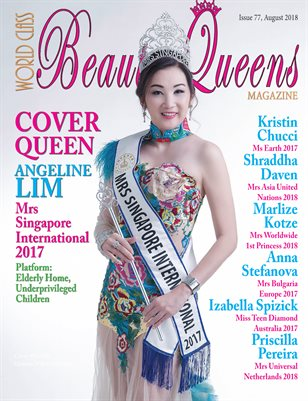 World Class Beauty Queens Magazine Issue 77 with Angeline Lim