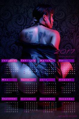 Korean ButtaFlyy Calendar 2017