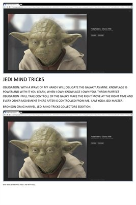 JEDI MIND TRICKS POSTER. COLLECTORS SPECIAL, YODA HAS A NEW POWERFUL SAYING, NON MISS PRINT VERSION.