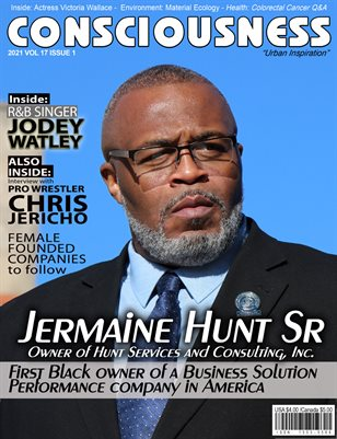 Jermaine Hunt Sr. Featured on Cover of Consciousness Magazine