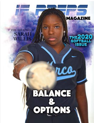 IE Preps Magazine 2020 Softball Issue Sarah Willis Cover (White Background)