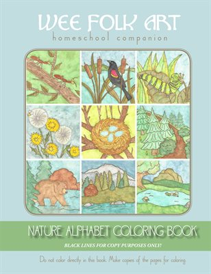 Nature Alphabet Coloring Book Black Lines