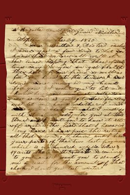 1860 LETTER FROM JACOB F. CLEMMER TO WILLIAM & SALLY BEARD OF HENRY COUNTY, TENNESSEE