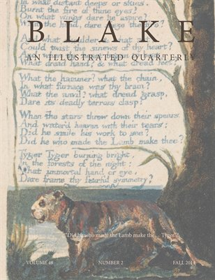 Blake/An Illustrated Quarterly vol. 48, no. 2 (fall 2014)