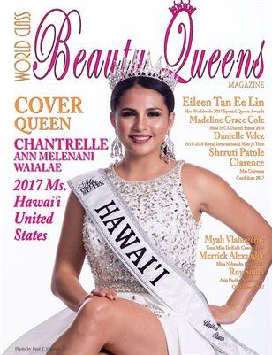 World Class Beauty Queens Magazine Issue 60 Chantrelle Ann Melenani Waialae