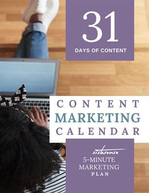 31-Day Content Marketing Calendar