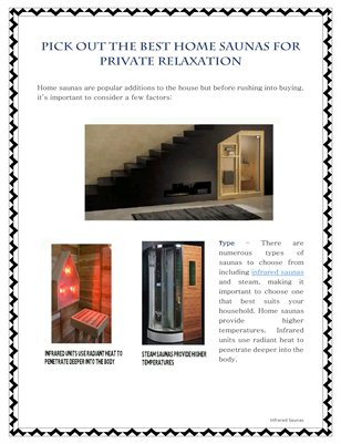 Pick Out The Best Home Saunas For Private Relaxation