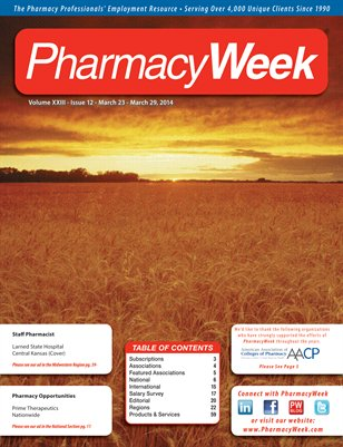 Pharmacy Week, Volume XXIII - Issue 12 - March 23 - March 29, 2014