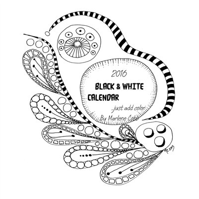 Black & White 2016 Calendar... Just add color