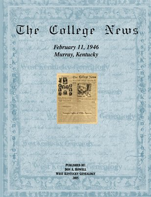 February 11, 1946, The College News, Murray, Calloway County, Kentucky