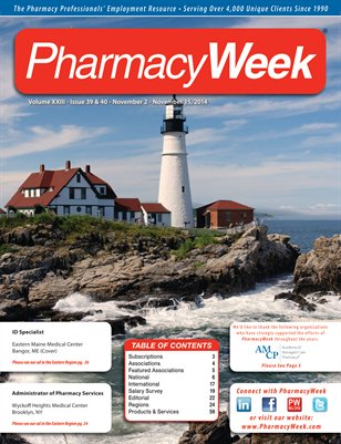 Pharmacy Week, Volume XXIII - Issue 39 & 40 - November 2 - November 15, 2014
