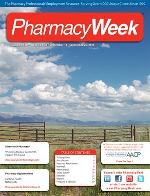 Pharmacy Week, Volume XXIV - Issue 32 & 33 - September  13 - September 26, 2015