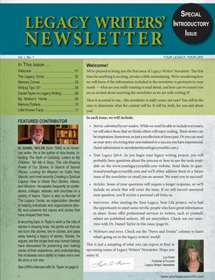 Legacy Writers' Newsletter 1:1