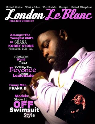 London Le'Blanc Magazine Vol. 18- Kobby Stone
