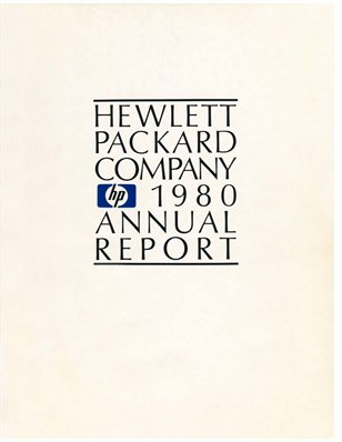 HP Annual Report 1980