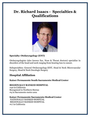 Dr. Richard Isaacs -  Specialties & Qualifications
