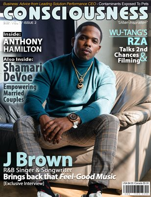 J Brown Featured on Cover of Consciousness Magazine