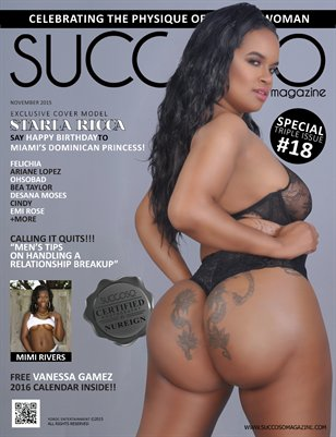 Succoso Magazine Triple Issue #18 featuring Cover Model Starla Ricca