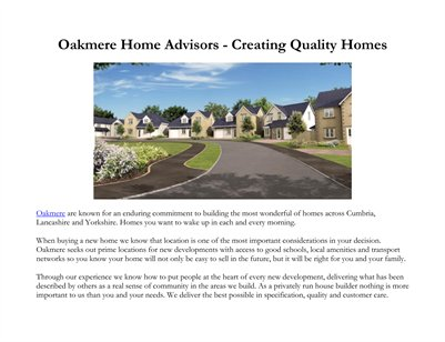 Oakmere Home Advisors - Creating Quality Homes