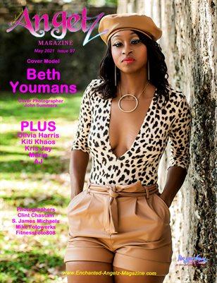 ENCHANTED ANGELZ MAGAZINE - Cover Model Beth Youmans - May 2021
