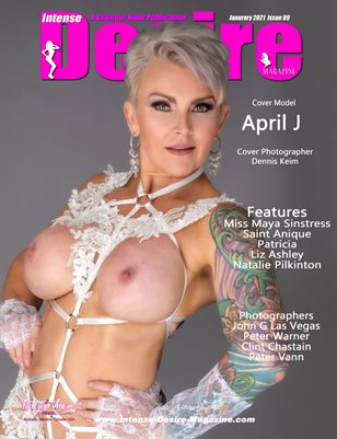 INTENSE DESIRE MAGAZINE - Cover Model April J - January 2021