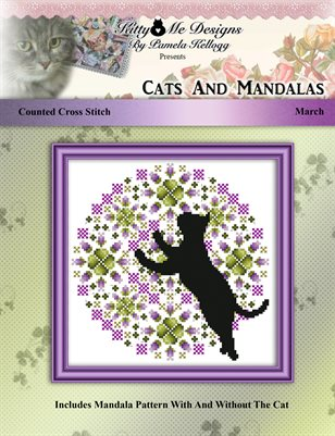 Cats And Mandalas March Cross Stitch Pattern