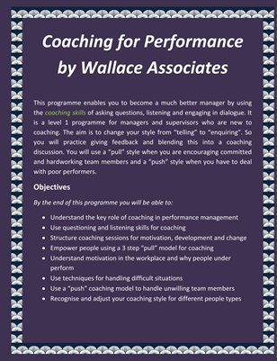 Coaching for Performance by Wallace Associates