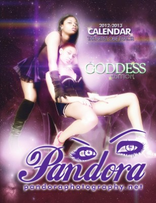 "Pandora Photography 2012-2013 Calendar: ""The Goddess Edition"""