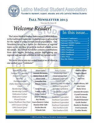 LMSA Newsletter, Fall 2013