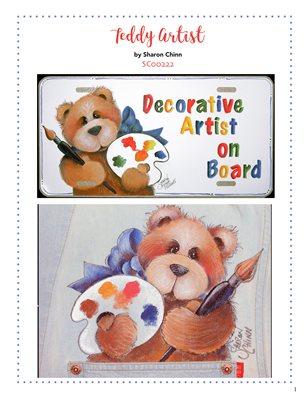 Teddy Artist Painting Pattern Tutorial by Sharon Chinn - SC00222