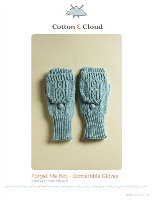 Forget-Me-Not Convertible Gloves