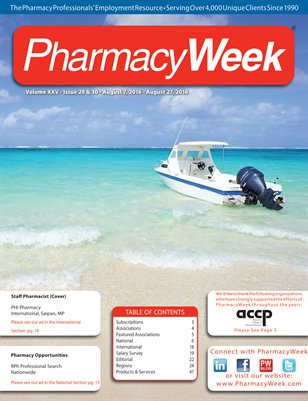 Pharmacy Week, Volume XXV - Issue 27 & 28 - August 7, 2016 - August 27, 2016