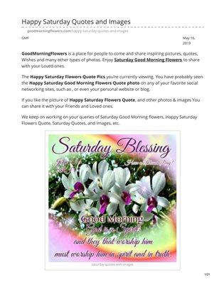 Saturday Good Morning Flowers