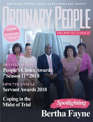 ORDINARY PEOPLE Fall 2018 | Vol 9 | Issue 24