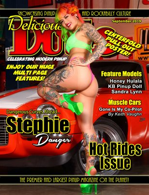 September 2019 Hot Rides issue with Stephie Danger cover