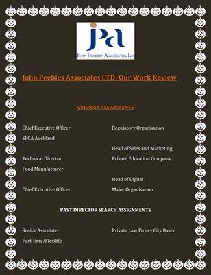 John Peebles Associates LTD: Our Work Review
