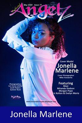 ENCHANTED ANGELZ MAGAZINE COVER POSTER - Cover Model Jonella Marlene - April 2020