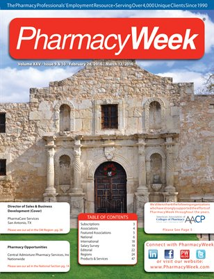 Pharmacy Week, Volume XXV - Issue 9 & 10 - February 28, 2016 - March 12, 2016