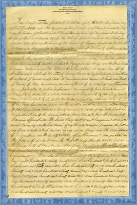 (PAGES 1-2) 1841 Deed, John Ray to B.E. Grey, Hickman County, Kentucky & Henry County, Tennessee