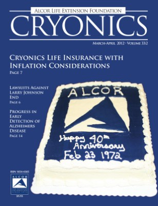 Cryonics March-April 2012 Volume 33:2