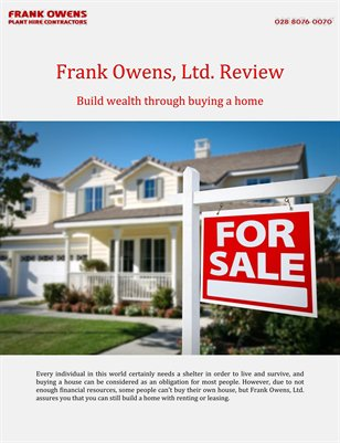 Frank Owens, Ltd. Review: Build wealth through buying a home