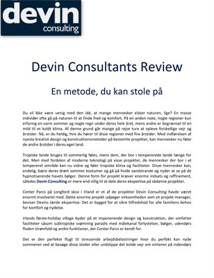 Devin Consultants Review: En metode, du kan stole på