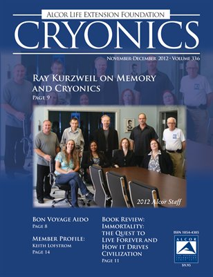 Cryonics November-December 2012 Volume 33:6