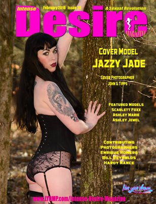 INTENSE DESIRE MAGAZINE - Cover Model Jazzy Jade - February 2018