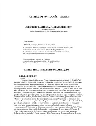 A Bíblia em Português - 2º Volume