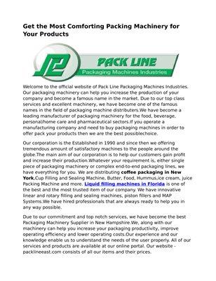 Pack Line East