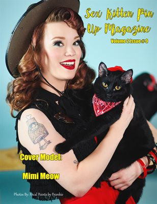 Sex Kitten Pin Up Magazine Cover 3 Mimi Meow September 2019 Issue