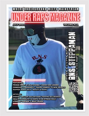 Under Raps Magazine Vol 11 Featuring RNS Steppaman, DaBaby, Prince Peezy & Lala Chanel plus more (DOUBLE COVER)
